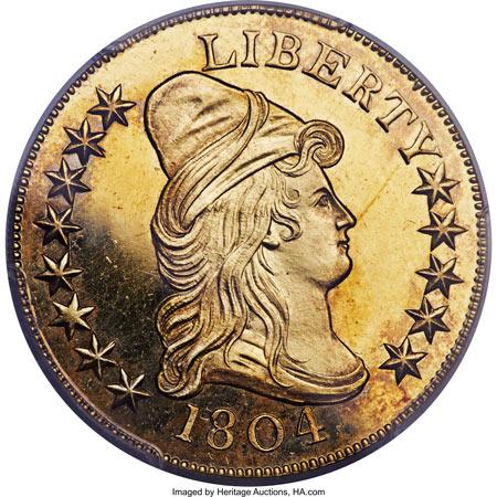 1804 Proof Gold Eagle $5.2 Million