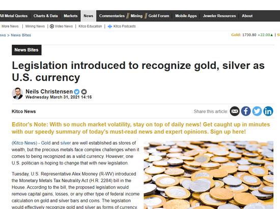 Monetary Metals Tax Neutrality Act